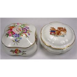 2 VINTAGE LIMOGES POWDER BOXES - *2 TIMES THE MONE