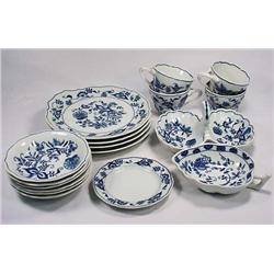 LARGE LOT OF BLUE DANUBE CHINA - 4 Snack Trays wit