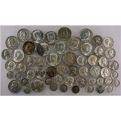 15 DOLLARS FACE VALUE IN US SILVER COINS - 90%  19
