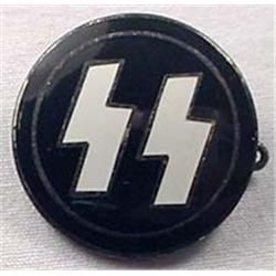 WW2 GERMAN NAZI SS ENAMELED PIN - Marked on Back G
