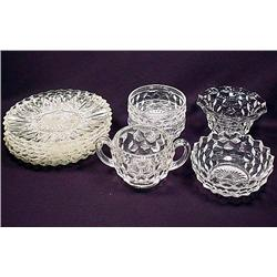 LARGE LOT OF FOSTORIA GLASSWARE - Plates, Bowls, M