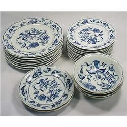 LARGE LOT OF BLUE DANUBE CHINA - 8 Salad Plates, 1