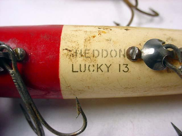Lot Of 2 Vintage Wooden Fishing Lures Heddon Luc
