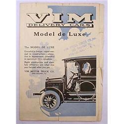 1916 VIM MOTOR TRUCK DELIVERY CARS ADVERTISING BRO