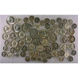 11 DOLLARS FACE VALUE IN US SILVER COINS - 90%  19