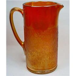 "VINTAGE CARNIVAL GLASS PITCHER - Approx. 8.75"" tal"