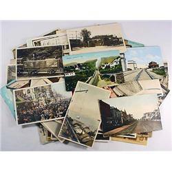 LARGE LOT OF VINTAGE POSTCARDS - INCL. RPPC REAL P