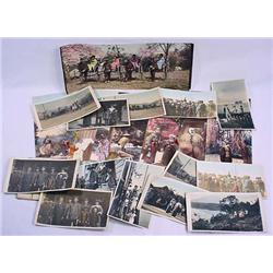 LOT OF VINTAGE HAND COLORED PHOTOS, PRINTS AND POS