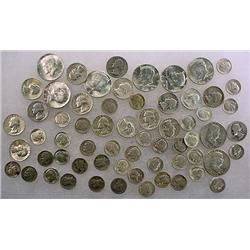 14 DOLLARS FACE VALUE IN US SILVER COINS - 90%  19