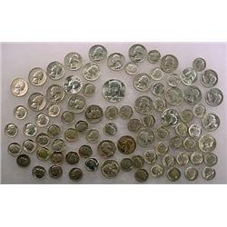 13 DOLLARS FACE VALUE IN US SILVER COINS - 90%  19