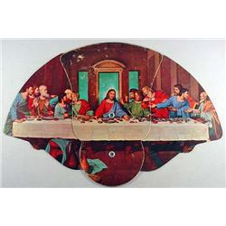 "VINTAGE FUNERAL HOME ""LAST SUPPER"" MECHANICAL ADVE"