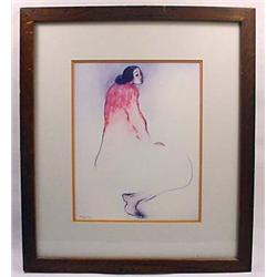 1979 RC GORMAN PRINT - MATTED AND FRAMED - Approx.