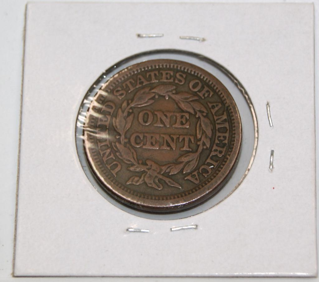1847 Large US Penny Very Fine Condition