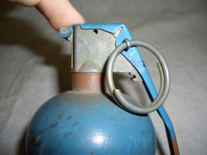 US Dummy Practice Grenade Baseball Type Blue FUZE M228