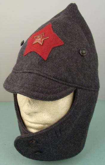 fd9e4dd469111 Image 1   RUSSIAN RED ARMY BUDENOVKA HAT WITH EAR   NECK FLAPS ...