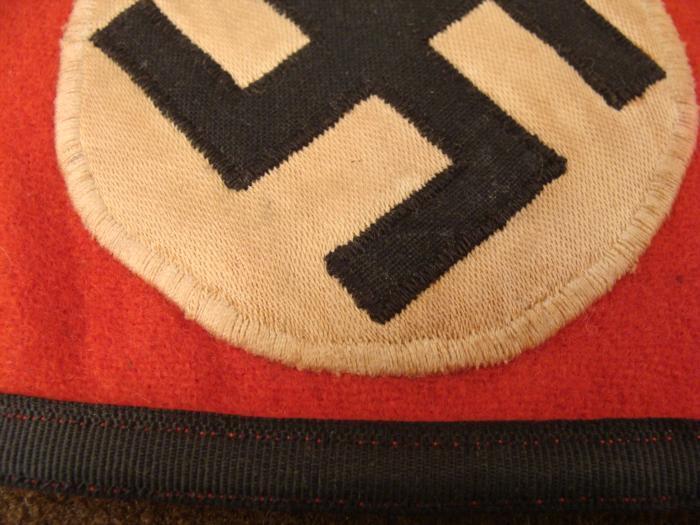 ORIGINAL EARLY NAZI SS ARMBAND-2 CLOTH RZM MAKER TAGS