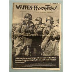 WWII Wartime Waffen SS Nazi Soldier Magazine 1944