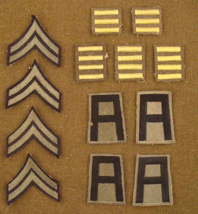 13 original wwii uniform patches (1st army / overseas)