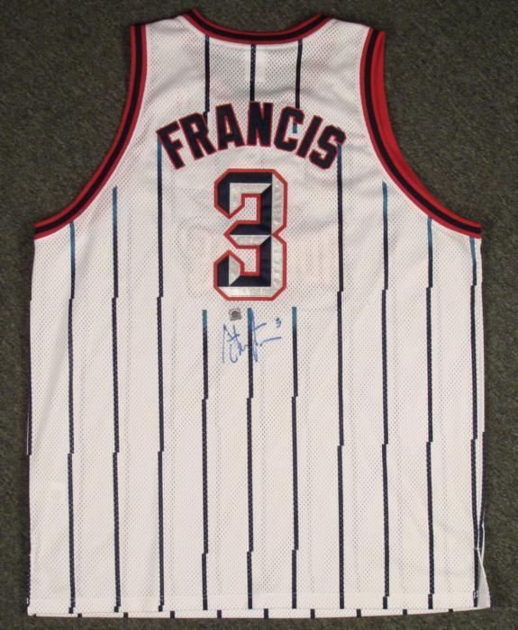 promo code e9a91 5f88a Steve Francis Signed Jersey Houston Rockets NBA