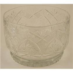 Vintage Cut Lead Crystal Glass Serving Centerpiece BOWL