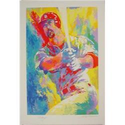 MARK MCGWIRE Double Signed LeRoy Neiman LE Art Print