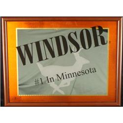 Windsor Mirror Bar Sign Deer Minnesota Whisky