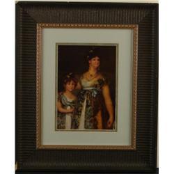 Goya Spanish Art Print Framed Royal Family Portrait