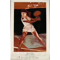 Olympic Womens Tennis Poster D. Friedman 1996 Atlanta
