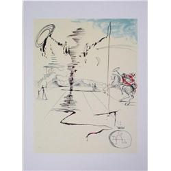 After Dali CHEVALIER Numbered Limited Ed Art Print
