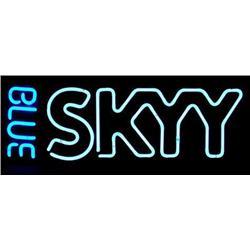 BLUE SKYY Malt Beverage 2 Color Neon Bar Decor Sign