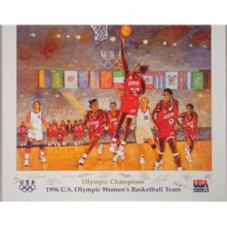 1996 Olympics Bart Forbes Womens Basketball Poster