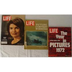 3 Life Magazines circa 1964 1971 & 1972 Kennedy