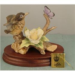 Lefton Bird & Butterfly Vint Porcelain Figurine KW776