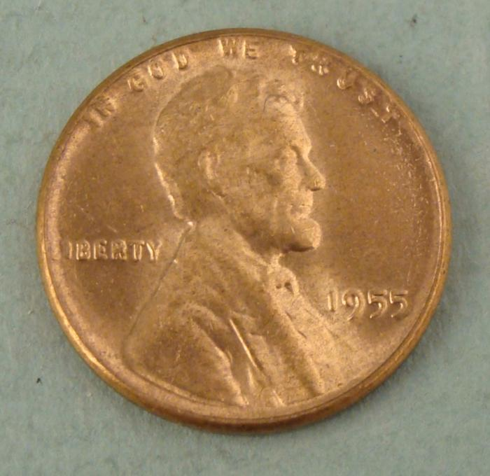 1955 Wheat Penny Poor Mans Double Die Error Cent