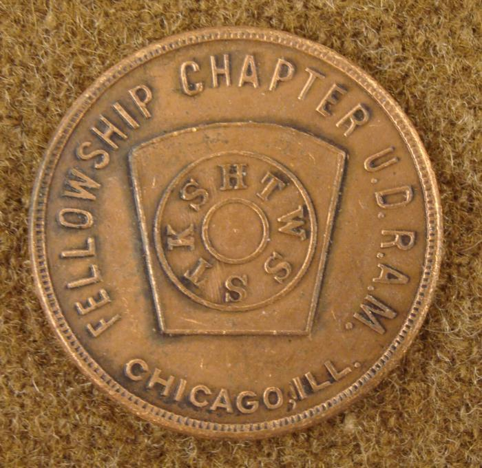 early 1900s royal arch masons fraternal one penny coin
