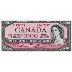 BANK OF CANADA.  $1000.00.  BC-46d.  No. A/K1437277.  Ch Unc.