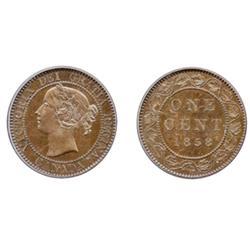 1858.  PCGS graded SPECIMEN-65. Brown.  A glossy brown Gem.