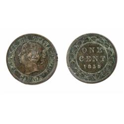 1859. Double-Punched, Narrow 9. #2.  ICCS Very Fine-30.