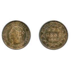 1887.  PCGS graded AU-55.  15% remaining luster.  FIVE Cents.  1891. Obv. port. #5.  PCGS graded AU-