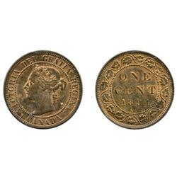 1894.  ICCS Mint State-63. Red-Brown.  40% remaining red luster.
