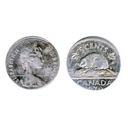 FIVE CENTS.  1979. Struck on an Aluminum foreign planchet, most likely an Israel Five Agorat. (Canad