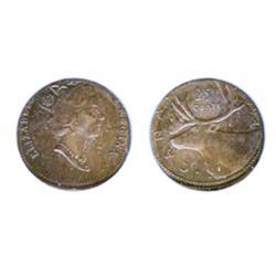 TWENTY-FIVE CENTS.  1994. Struck on a smaller non-magnetic bronze coloured planchet. 2.48 grams. 20m