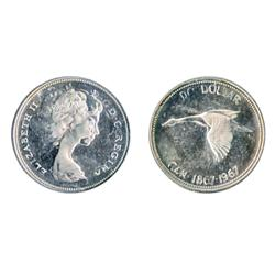 $1.00.  1967. Double-Struck variety. Proof-Like-64. Fully brilliant. Deep mirror fields. Heavy Cameo
