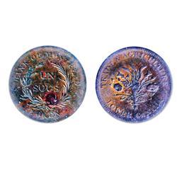 Breton-714. LC03A1. Un Sou. 1836. ICCS Extra Fine-40. Traces of luster.