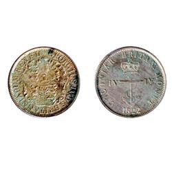 Breton-858. 1822. ¼ Dollar. Anchor Money.  ICCS AU-55. Good luster.