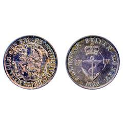 Breton-858. 1822. ¼ Dollar. Anchor Money.  ICCS Very Fine-20.