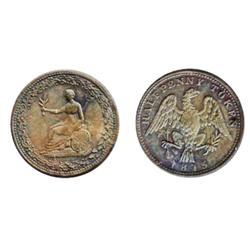 Breton-994. LC-54d@. 1815. ½ Penny. Clockwise wreath. Unc. 40% red luster.