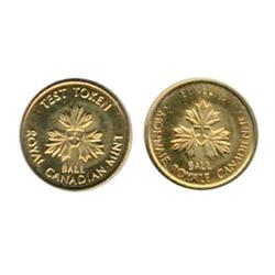 TEST TOKEN.  One Cent. CH-TT-1.11. Brass. Mint Sate-64.  Ex. Spink's auction.