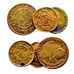 COLUMBIA. 1 Escudo. 1811.NR. J.J. (scarcer date). KM#64.1. Ferd. VII. VG;  1 Peso. 1829 R.S. KM#84.