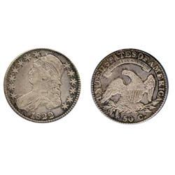 BUST HALF DOLLAR. 1822. ICCS Very Fine-30.